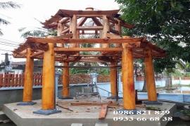 Hình ảnh thực tế từ A- Z công trình nhà chòi gỗ