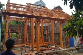 Công trình Nhà gỗ 3 gian gỗ xoan - Anh Hùng Mê Linh Vĩnh Phúc