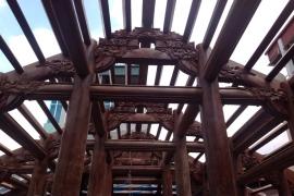 Công trình nhà gỗ 5 gian thông, 36 cột đứng đất - Nhà Anh Thắng Cổ Nhuế.