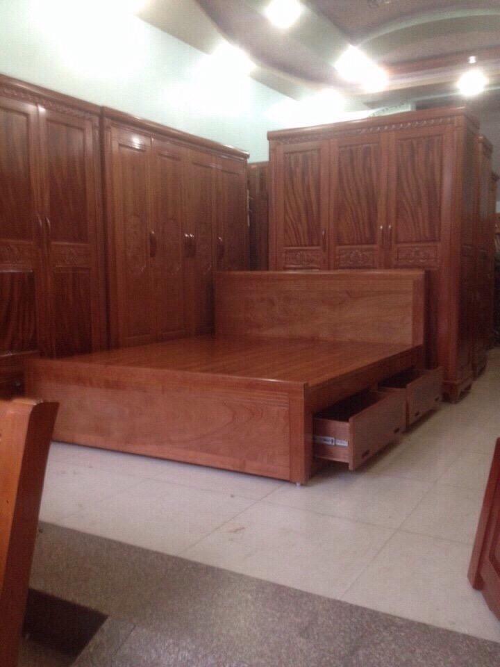 Tủ áo - giường gỗ thịt