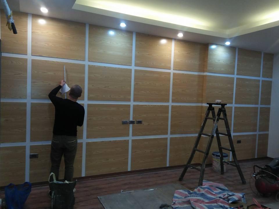 Vách ngăn trang trí gỗ công nghiệp
