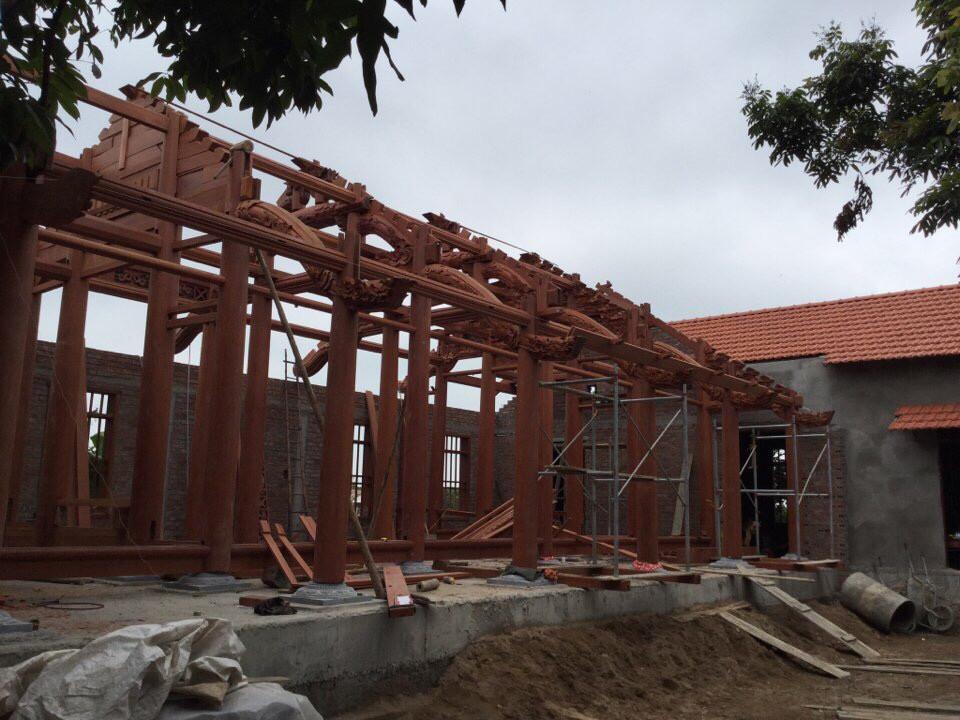 Nhà gỗ 5 gian gỗ Lim Nam Phi