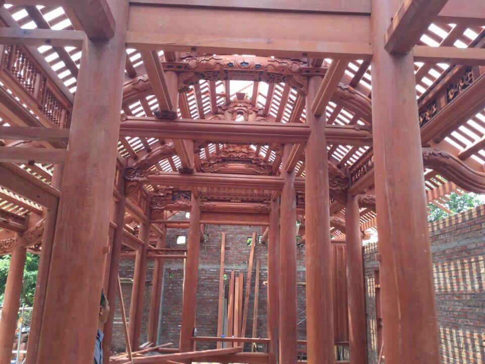 Nhà gỗ 5 gian - gỗ Lim Nam Phi