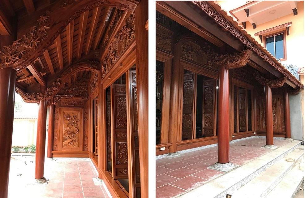 Nhà 3 gian gỗ Lim Nam Phi