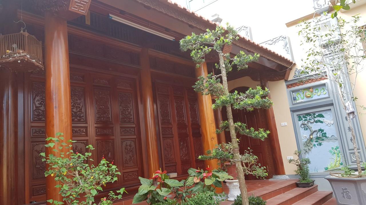 nhà gỗ 3 gian