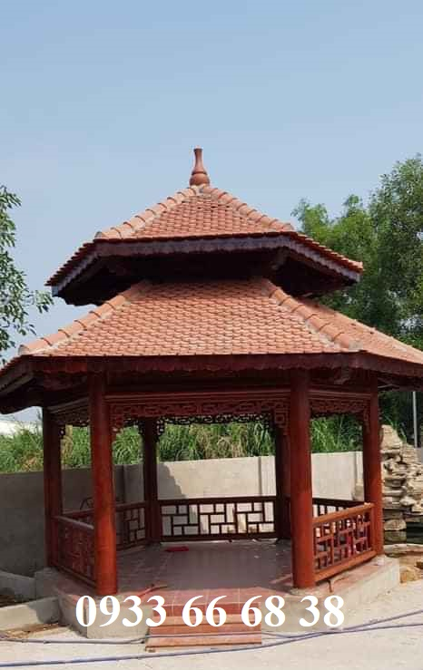 Nhà chòi lục giác gỗ Lim Nam phi