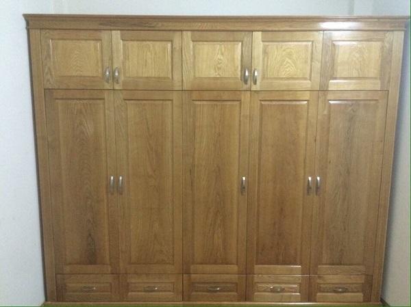 Tủ áo gỗ sồi Nga - 5 buồng