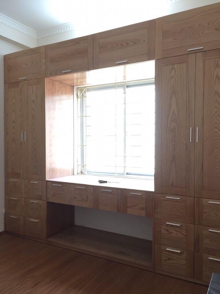 Tủ áo 4 buồng - gỗ sồi Nga