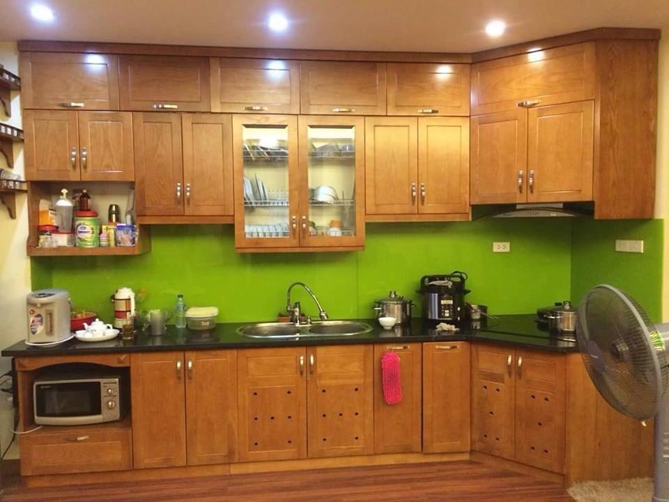 Tủ bếp gỗ đóng theo yêu cầu