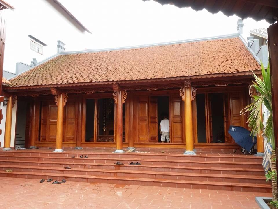 Nhà gỗ 3 gian đẹp
