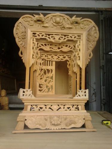 Khám thờ gỗ mộc