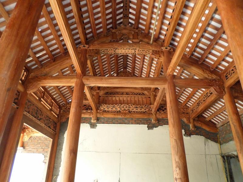 nhà gỗ xoan 3 gian đẹp