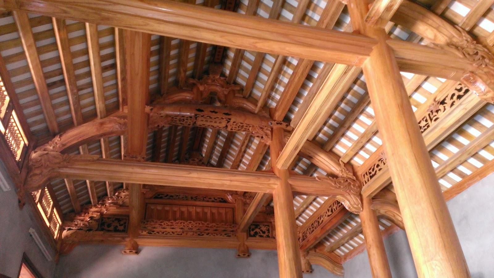 nhà gỗ xoan 3 gian