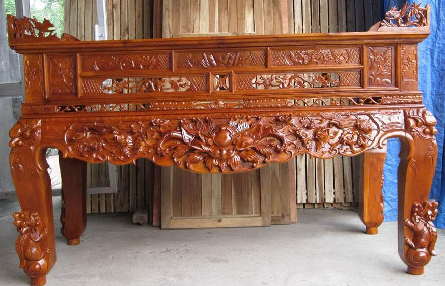Sập thờ gỗ mít